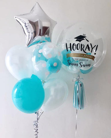 Congratulations Bubble Balloon with Balloon Bunch