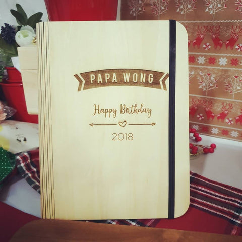 Personalized Wooden Notebook