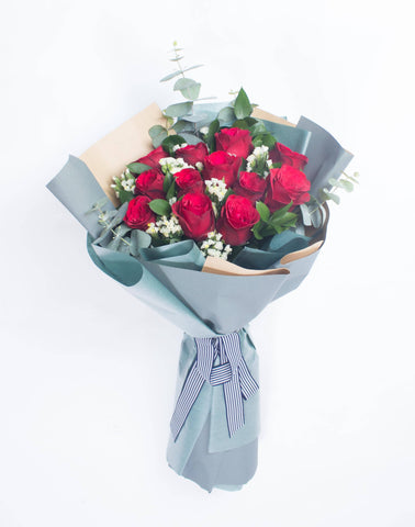 12 Roses Bouquet (Valentine's Special 28) (Valentine's Day 2019)