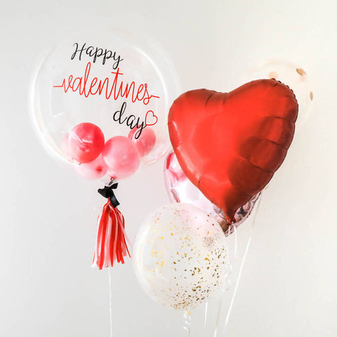 "24"" Bubble Balloon Bouquet for Valentine's Day 2019"
