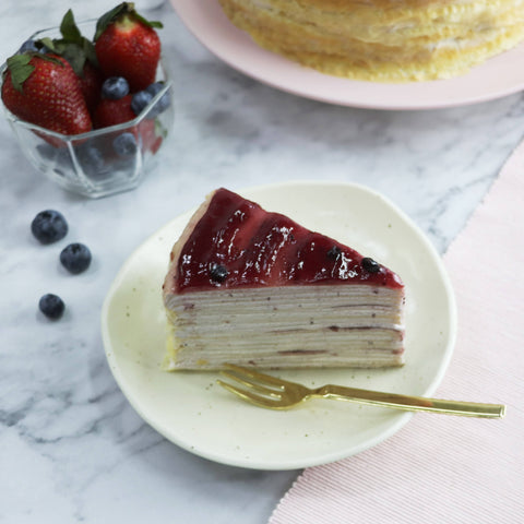Cheery Berry Mix Mille Crepe Cake