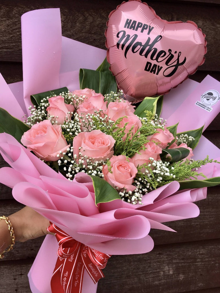 Flower Bouquet Pink Roses Penang Delivery Only Giftr Malaysia S Leading Online Gift Shop