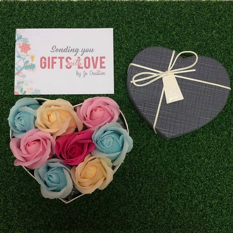Gift Box with 8 Scented Soap Roses
