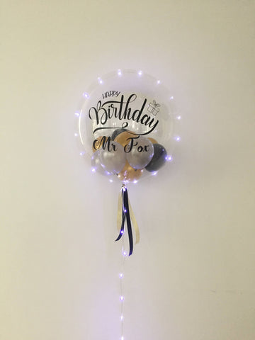 "24"" Bubble Balloon with LED Light Strip"