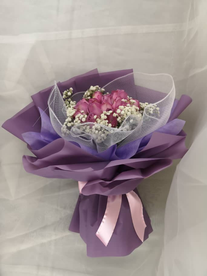 Purple Romance Roses Bouquet