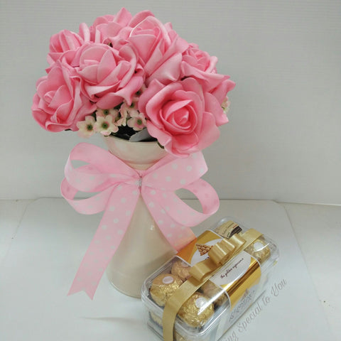 Bouquet of Decorative Flower & Chocolate (Mother's Day Special)