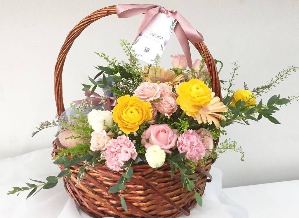 Get Well Fruits & Flowers Basket 4