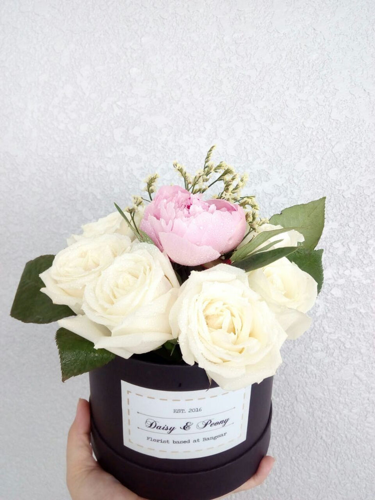 Peony & Roses in Box