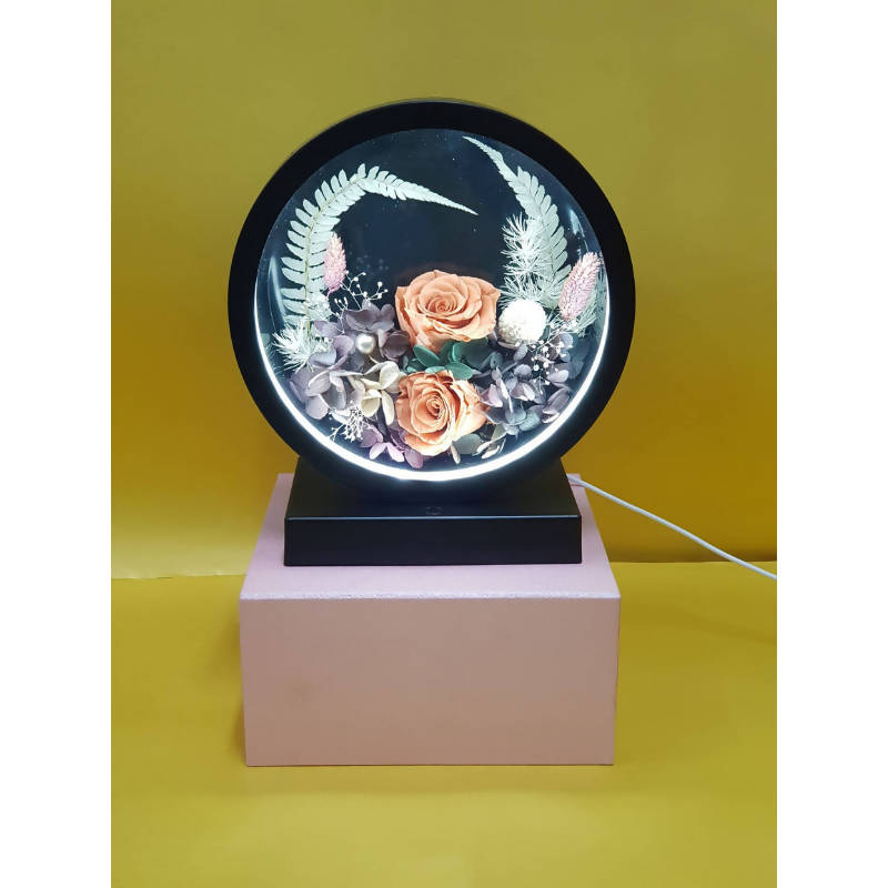 Mother's Day 2021 Gift Preserved Flower Lamp Set 8