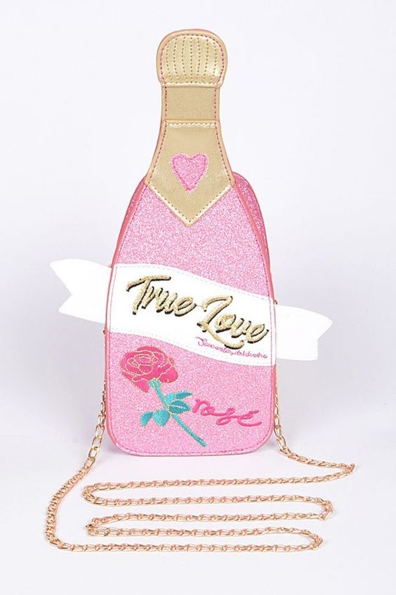 Champagne Dreams Glitter Purse | Pink