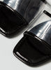 Show Out Clear Push in Sandals | Black