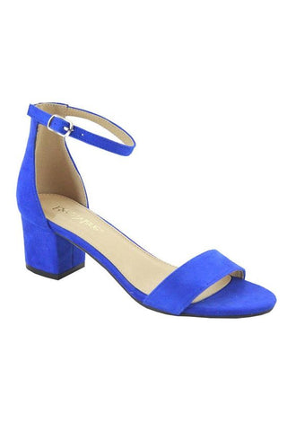 Sweet and Low Ankle Strap Block Heel | Royal Blue
