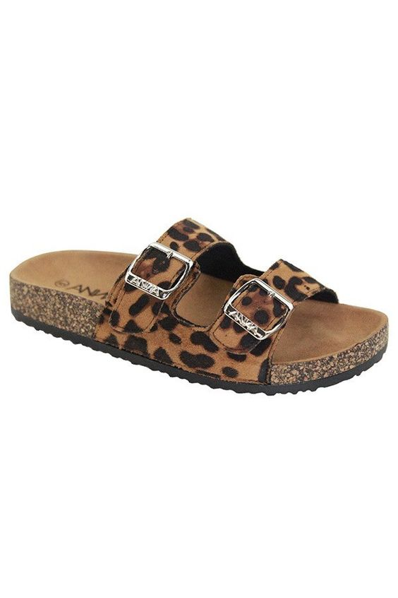 Eyes on Me Cork Bottom Sandals | Leopard