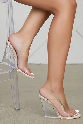 Way Past Midnight Clear Wedges | Nude