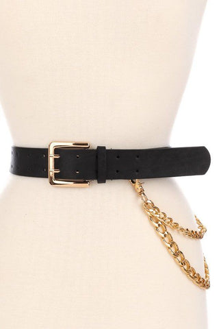 Trendy Chain Belt | Black