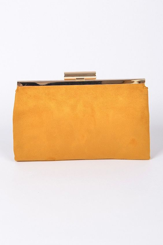 First Things First Clutch | Mustard