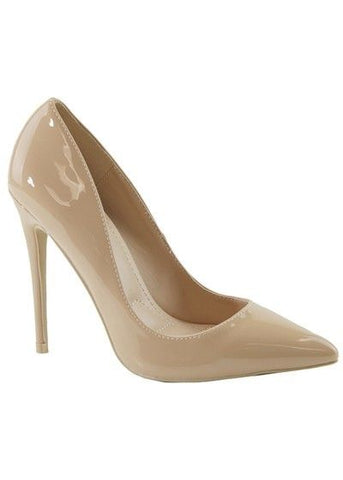 Almost Famous Patent Pointy Toe Stiletto Pump | Nude