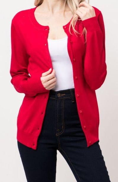 Working Girl Cardigan | Red