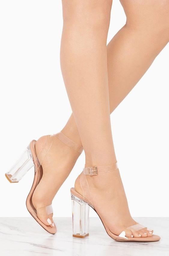 Clear My Name Heels | Nude