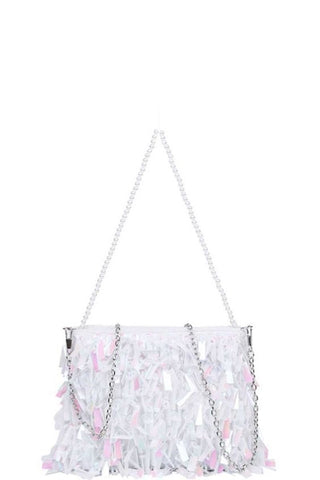 Fancy Affair Crossbody Bag  | White Iridescent