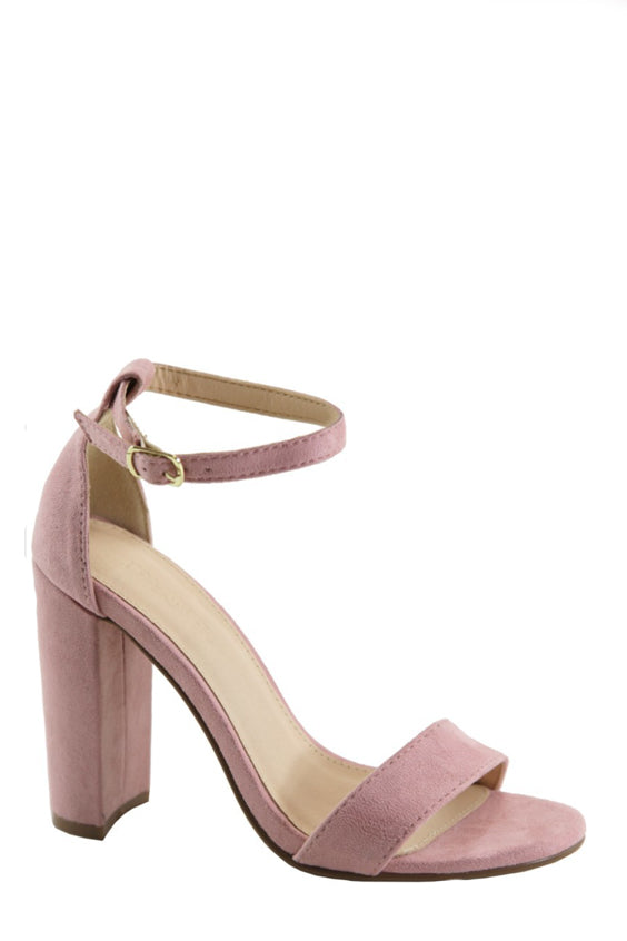 8d99131ac16 Less is More Block Heel | Mauve