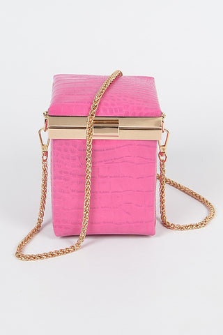 Bad Habit Box Clutch | Fuchsia Pink