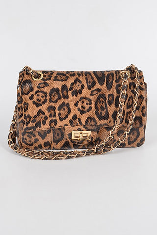 Feline Feelings Leopard Crossbody Bag