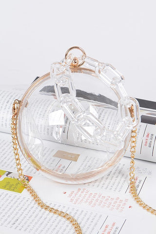 Around the Way Circle Clutch | Clear