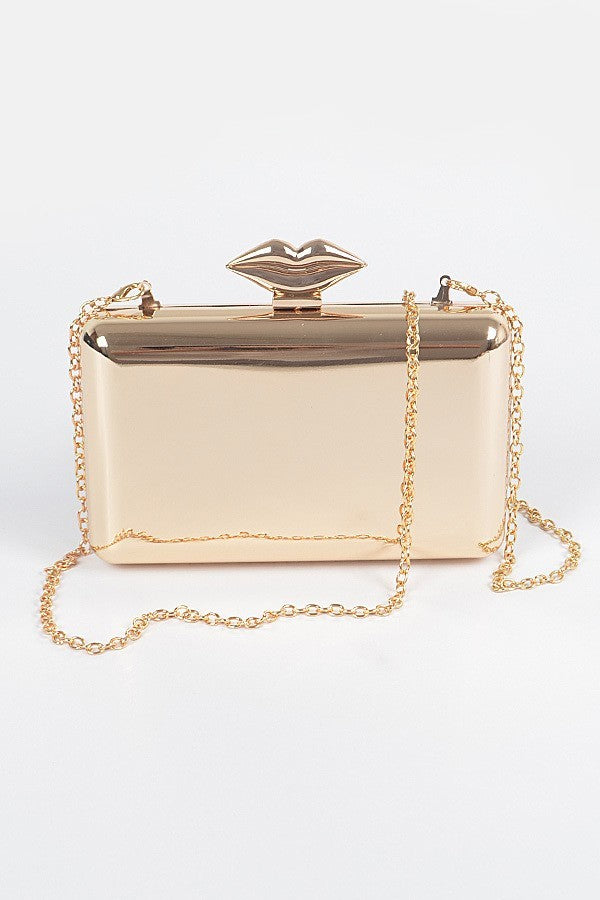 Lip Service Metal Clutch | Gold