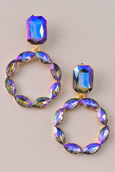Backstage Pass Iridescent Earrings | Purple
