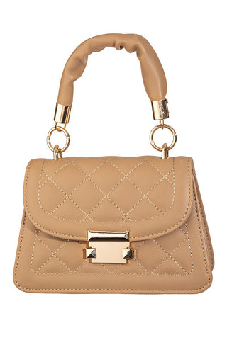 Night Life Quilted Crossbody Bag | Tan