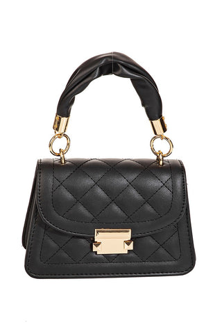 Night Life Quilted Crossbody Bag | Black
