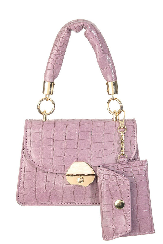 In the Mirror Snake Print Crossbody Bag | Purple