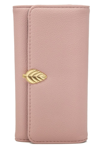 Leaf Detail Wallet | Blush