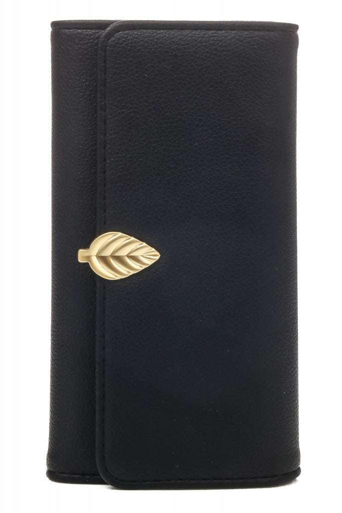 Leaf Detail Wallet | Black
