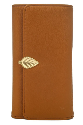 Leaf Detail Wallet | Tan