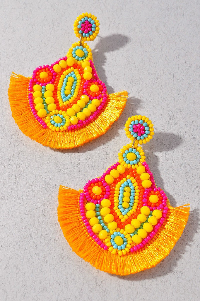 Color me Crazy Earrings | Yellow