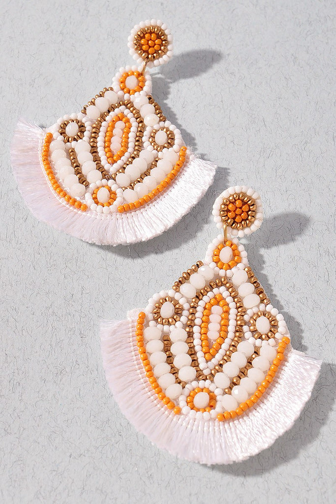 Color me Crazy Earrings | White