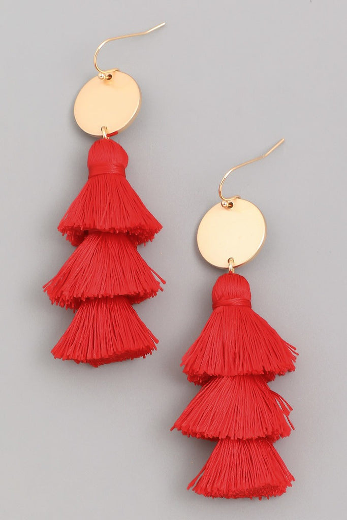 It's a Scene Tassel Earrings | Orange