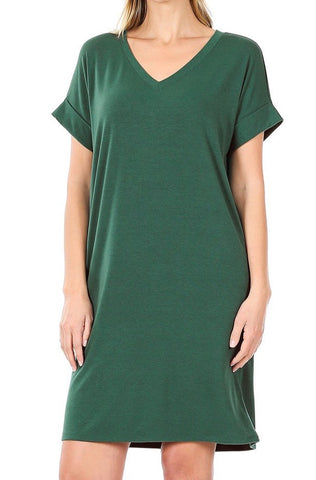 So Casual Dress | Dark Green