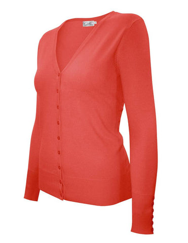 Cover Up Cardigan | Coral