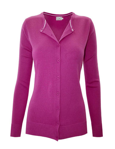 Formal Affair Cardigan | Magenta