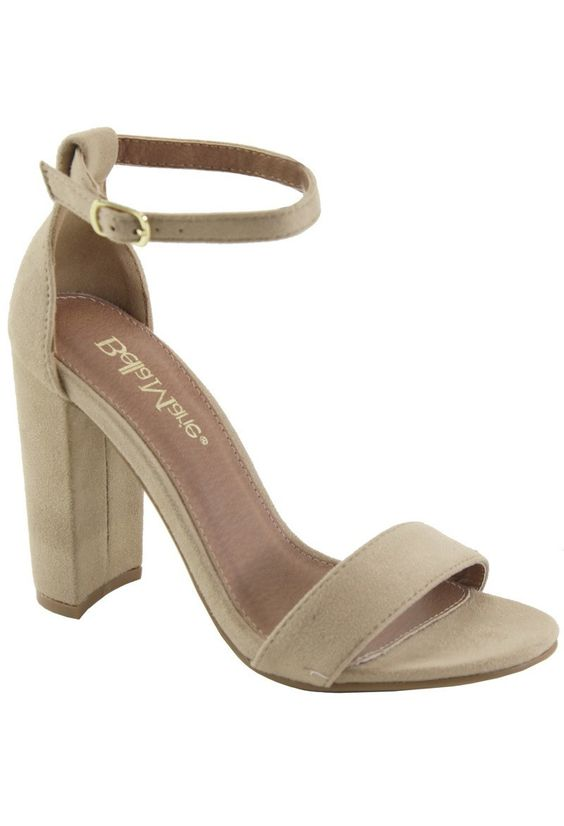 f08180b1457 Less is More Block Heel | Nude