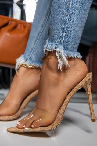 Influencer Stiletto Mule Heels | Cork