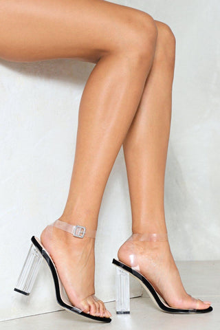 Clear My Name Block Heels | Black
