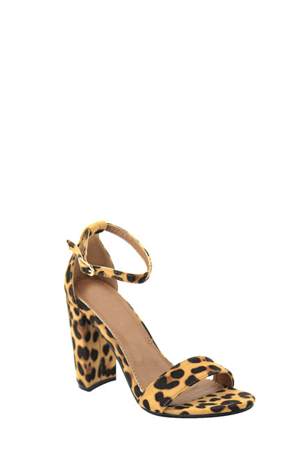 Less is More Block Heel | Leopard