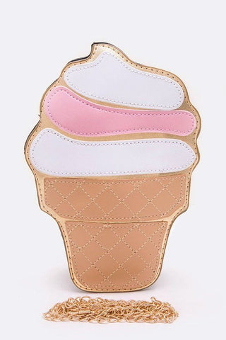 Ice Cream Cone Purse | White