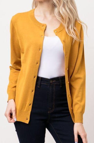 Working Girl Cardigan | Mustard