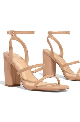 Living Single Black Heel | Nude