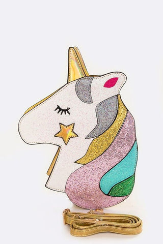Unicorn Glitter Purse | Gold